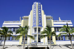Ocean drive buildings Royalty Free Stock Images