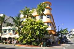 Ocean drive buildings Royalty Free Stock Image