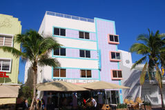 Ocean drive buildings Stock Photography