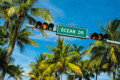 Ocean Drive Royalty Free Stock Photos