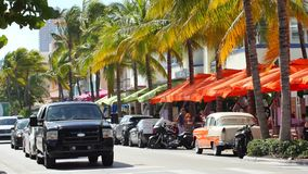 Ocean Drive Miami Beach FL stock footage