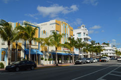 Ocean Drive in Miami Beach, Florida Royalty Free Stock Photography