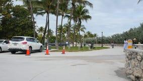 Ocean Drive Miami Beach warp speed stock video