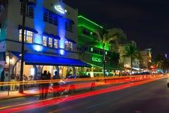 Ocean drive, Miami Royalty Free Stock Photos