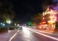 Ocean drive,Miami Royalty Free Stock Photos