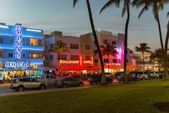 Ocean drive, Miami Royalty Free Stock Images