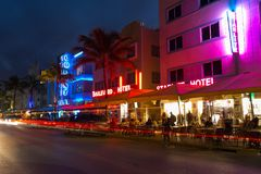 Ocean drive, Miami Stock Photos