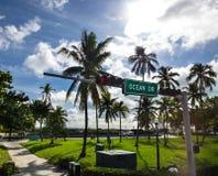 Ocean drive park Stock Photography