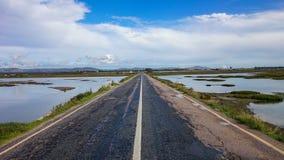 Ocean Drive, Portugal. Faro road, Algarve, Portugal 2014 Stock Photo