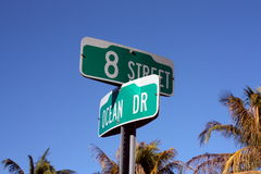 Ocean Drive Sign Royalty Free Stock Photography
