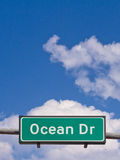 Ocean Drive Sign Royalty Free Stock Image