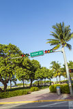 Ocean Drive Street Sign in Miami Beach Stock Photos