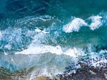 Ocean from drone royalty free stock photo
