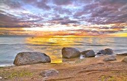 ocean dryluje zmierzch Fotografia Stock