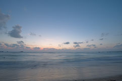Ocean in the evening after sunset. Romantic landscape Royalty Free Stock Photos