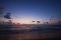 Ocean in the evening after sunset Royalty Free Stock Images