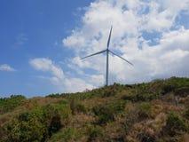 Ocean facing power windmill, Bangui windmill farm. royalty free stock image