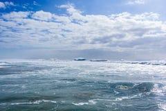 Ocean fala burze Obrazy Royalty Free