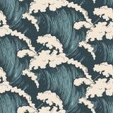 ocean fala deseniowe bezszwowe ilustracji