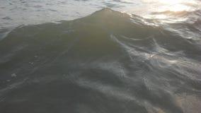 Ocean fala na Chmurnym ranku na Koh Samui wyspie, Tajlandia Obraz Stock