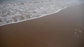 Ocean fala na złotej plaży zdjęcie wideo