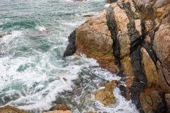 Ocean fala pluśnięcie na rafowym wideo Zdjęcie Royalty Free