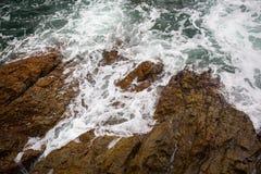 Ocean fala pluśnięcie na rafowym wideo Obraz Royalty Free