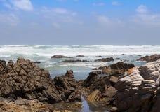Ocean fala przy przylądkiem Agulhas Zdjęcia Royalty Free