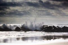 ocean fala w Pacyficznym oceanie burzowe fale oceanu Zdjęcie Royalty Free