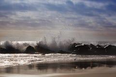ocean fala w Pacyficznym oceanie burzowe fale oceanu Zdjęcia Royalty Free