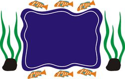 Ocean Fish on Orange Blue Colour on Blue Side Environment. Is very interesting for many illustrations Stock Image