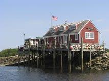 Ocean fishing cabin Royalty Free Stock Photos