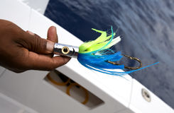 Ocean fishing spinner Stock Photography
