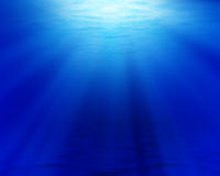 Ocean floor and surface Stock Photography