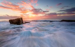 Turimetta rock flows from outer reef Stock Images