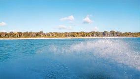 Ocean Foam water flow spraying and splashing. stock video