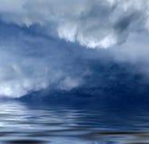 Ocean fog. Incoming deep ocean fog in blue royalty free stock image
