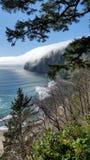 Ocean Fog. Beautiful fantasy-like seascape, Pacific Ocean stock image