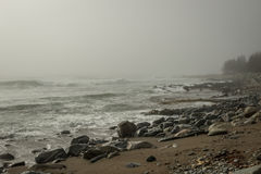 Ocean and fog Royalty Free Stock Photo