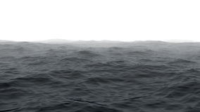 Ocean with fog Stock Images