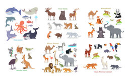Ocean, Forest, Asian, Australian, African, Animals Royalty Free Stock Images