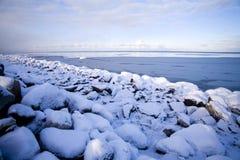 Ocean freezing to ice Stock Photos