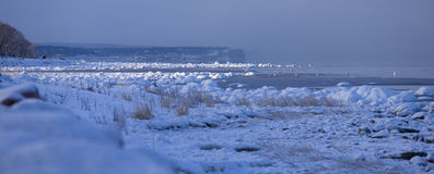 Ocean freezing to ice during cold winter.GN Stock Photo