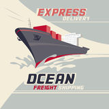Ocean freight shipping Royalty Free Stock Image