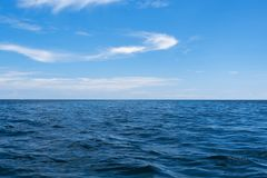 Free Ocean Front And The Seascape. Blue Sky And White Cloud Stock Image - 160214961