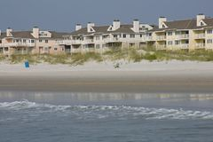 Ocean front apartment buildings Stock Photos