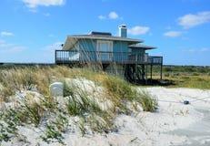 Ocean front beach home Royalty Free Stock Photos