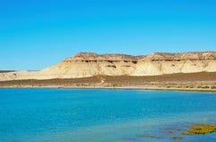 The ocean in front of Cerro Avanzado Royalty Free Stock Images