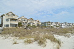Ocean front housing, Hilton Head Island, South Carolina. Housing with ocean views along sandy dunes in Hilton Head Island, South Carolina, USA on sunny day Stock Images
