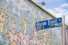 Ocean Front at Venice Beach,California Royalty Free Stock Photos